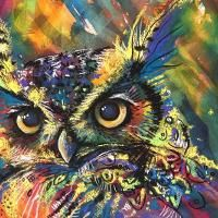 Looking for painting project inspiration? Check out Owl - Wild & Abstract Colour! by member Sharlena Wood.