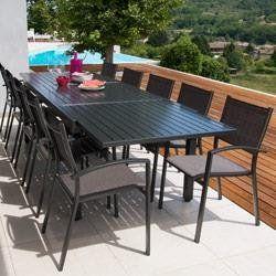 Esstischgruppe Tisch Malaga 2 3m 10 Sessel Antalya Outdoor Furniture Outdoor Furniture Sets Outdoor Tables