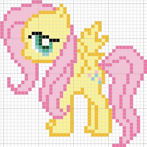 """My Little Pony - Idea for a 2"""" mini granny square afghan"""