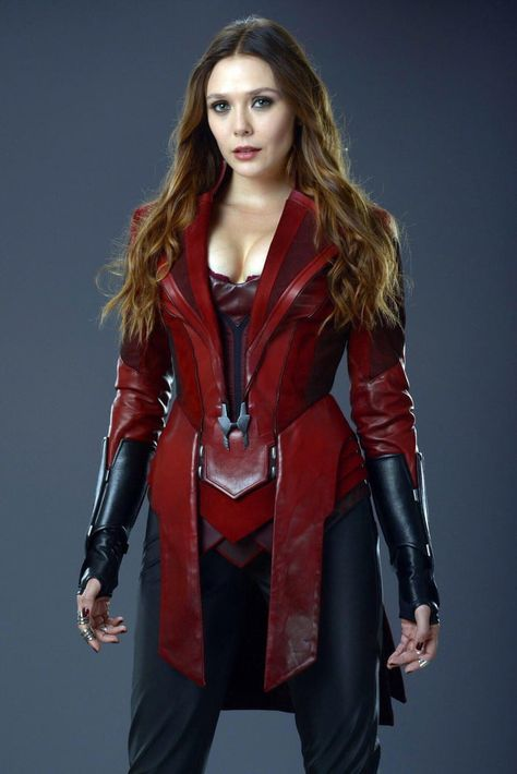 NEW Elizabeth Olsen as Scarlet Witch in promotional photo from Avengers Age Of Ultron