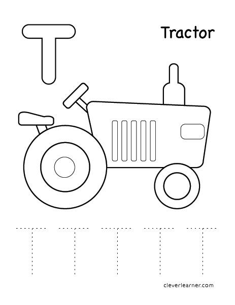 Letter T Coloring Sheets For Preschools Letter T Activities