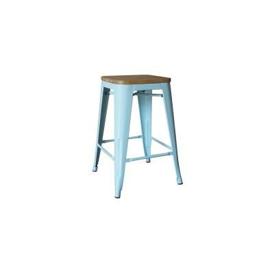 Stylewell Finwick Seafoam Blue Metal Backless Counter Stool With