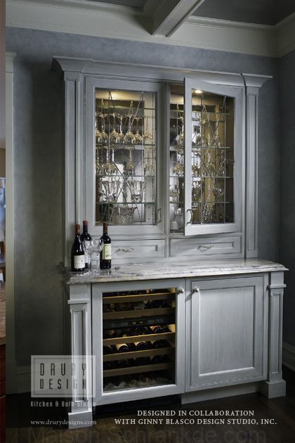 Transition Cuisine Bar Salon Deco Appartement Placard Integre