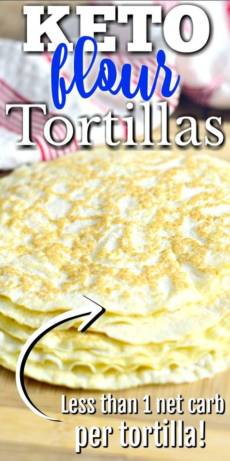 Flour Tortillas - Now you can indulge in your favorite Mexican food dishes with this Keto Flour Tortilla recipe. Tacos, fajitas, enchiladas, and more are waiting for you! Recipes With Flour Tortillas, Keto Tortillas, Recipes With Flour Easy, Coconut Flour Tortillas, Coconut Flour Recipes, Coconut Oil, Ketogenic Recipes, Low Carb Recipes, Diet Recipes