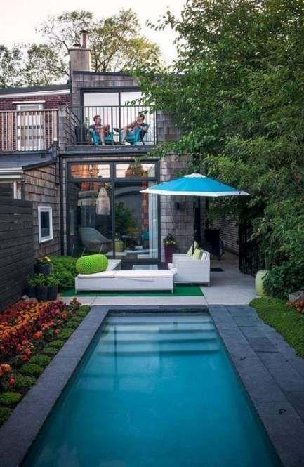 Trendy Garden Design Long Small Spaces Ideas Small Pool Design Small Backyard Pools Small Backyard Design