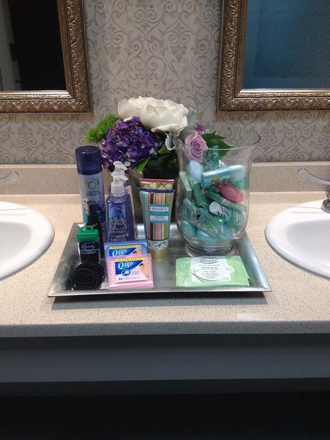 Must-haves for wedding bathroom baskets