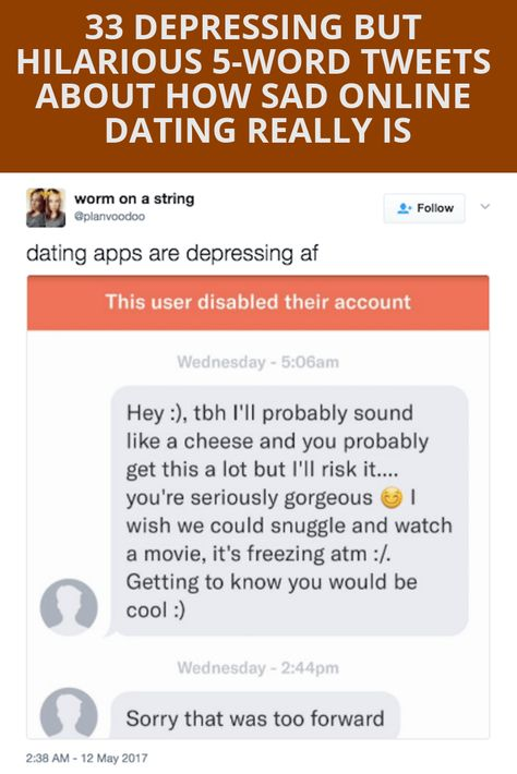 33 depressingly hilarious 5 word tweets about how sad online dating