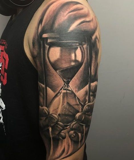 Tatuajes De Relojes Bolsillo Arena Antiguos Hombre Mujer