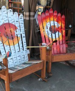 Groovy Set Of Two Colorado Flag Aspen Leaf Adirondack Ski Rocking Short Links Chair Design For Home Short Linksinfo