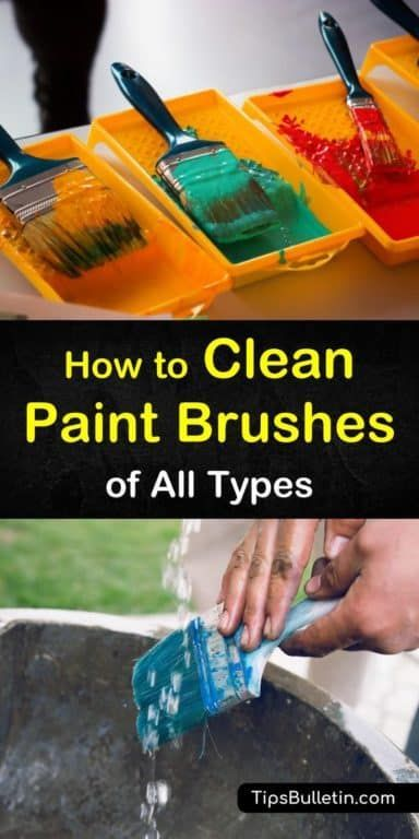 8 Creative Ways To Clean Paint Brushes With Images Cleaning Paint Brushes Cleaning Hacks Cleaning