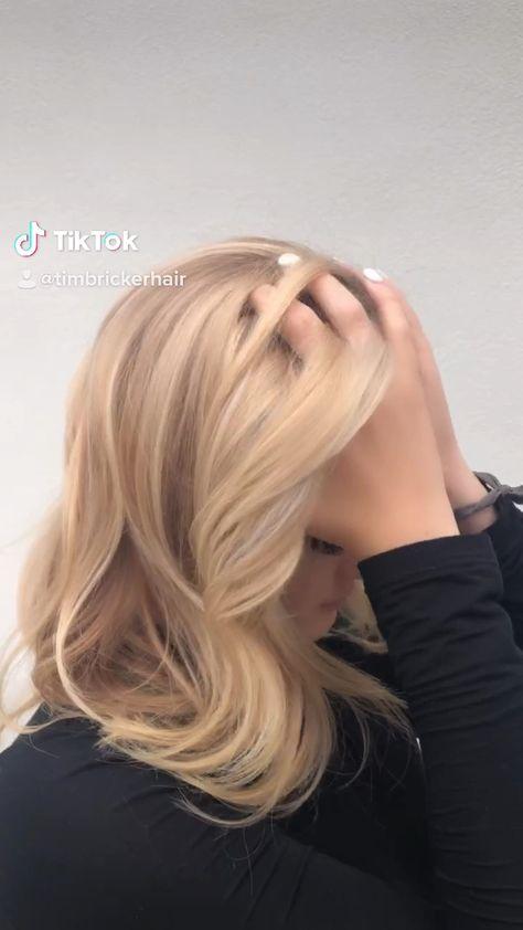 Hair painted blonde