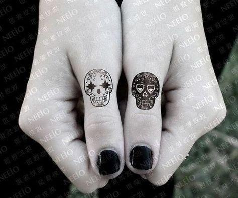 awesome Friend Tattoos - Small calavera tatto....