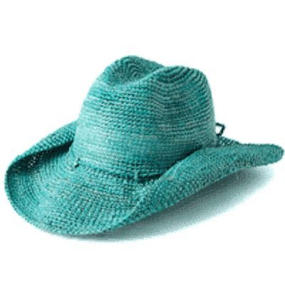 Teal Cowgirl Hat Clipart