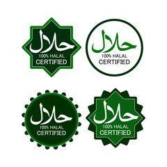 Illustration Of Muslim Traditional Halal Food Labels Vector Badges Logo Tag And Label Suitable For Banner Flyer Halal Food Festival Halal Recipes Halal