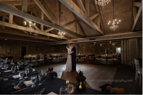#weddingvenue #exposedbeams #receptionvenue #weddingphotography #couplespictures #couplesportraits #rusticvenue #rusticwedding #chandeliers #bride #njbride #groom #njwedding #ronjaworskiweddings #roundtables #headtable #navy #white #ivory #weddingdress #weddingphotoideas #nightpictures #ronjaworskiweddings #blueheronweddings #coastalwedding #ballroom #weddingballroom #golfcoursewedding #highceilings #modernvenue #venueideas #ballroompictures Photo: Capone Photography