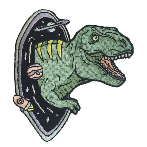 T Rex Dinosaur Patch Black Hole Outer Space Galaxy