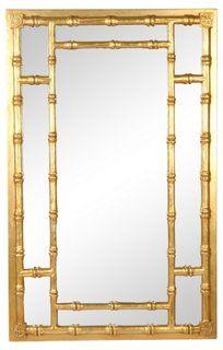 gilt fauxbamboo mirror available - Bamboo Mirror
