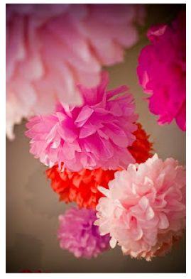 boule fleur en papier de soie