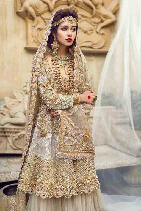 Latest Bridal Walima Dresses In Pakistan For 2019   FashionEven