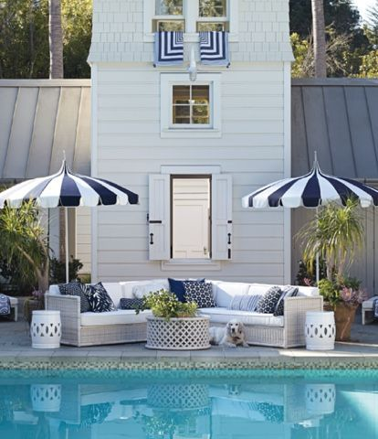 Serena Lily 2018 Spring Trends Gorgeous Outdoor Furniture Navy