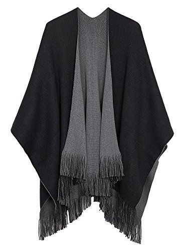 Fashion Women Ladies Warm Cape Poncho Pullover Shawl With Suede Tassel