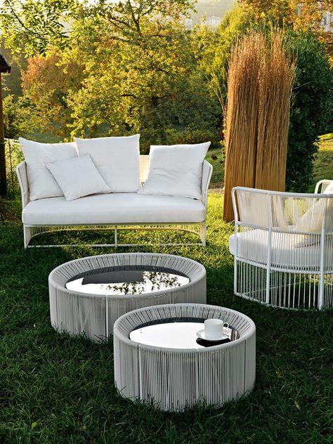 Varaschin Mobili Da Giardino.Sofa With Synthetic Fiber Weaving Tibidabo Sofa Varaschin D