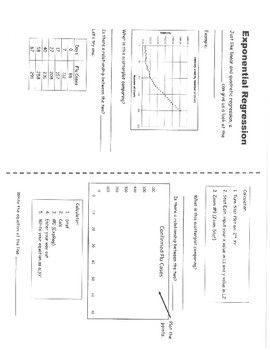 Exponential Regression Worksheet