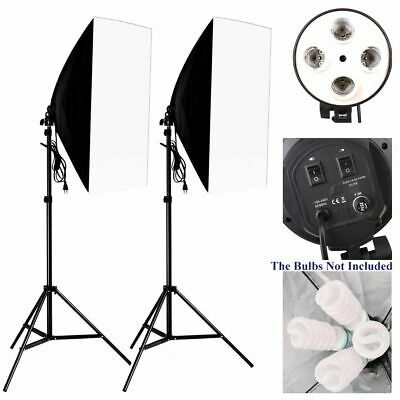 Photo Studio Kit Photography Lighting Socket Lamp Holder Softbox Light Stand Set Photo Studio Lamp Holder Softbox