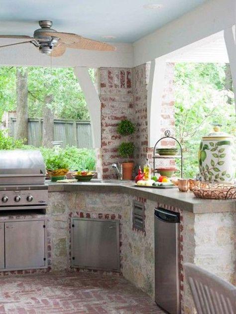 20 Cocinas De Exterior Diseno De Exterior De Cocina Cocina Al