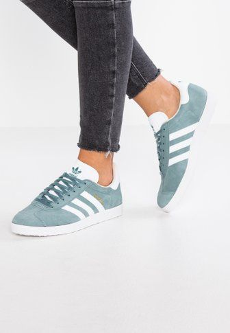 GAZELLE Baskets basses raw greenfootwear whitelinen