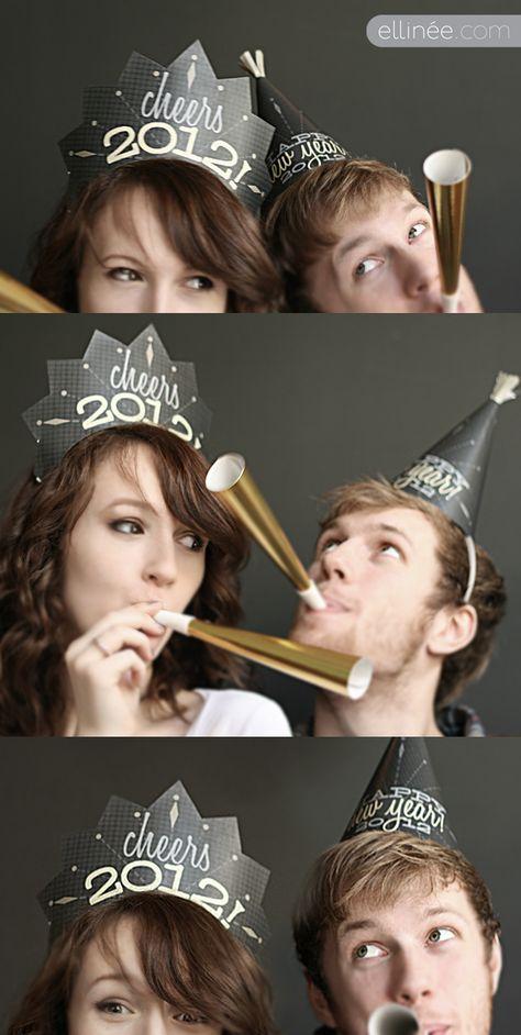 2012 NYE Party Hat Printables