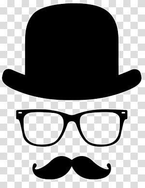 Moustache T Shirt Top Hat Beard Moustache Transparent Background Png Clipart Moustache Beard Silhouette Hipster Illustration