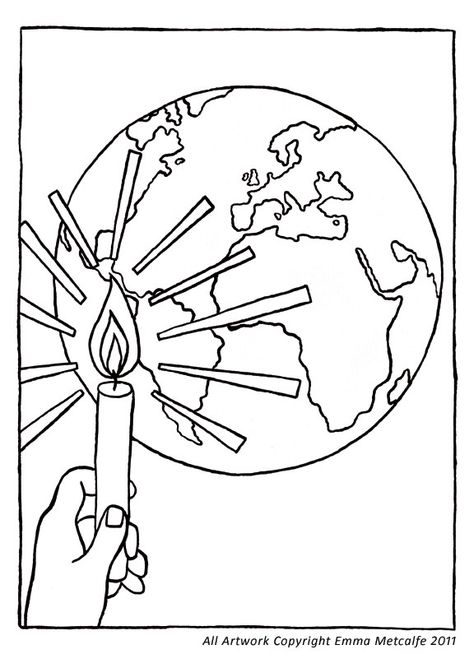 jesus is the light coloring page - Google Search | Light of ...