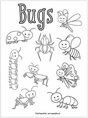 Cute Bug Coloring Pages Little Bugs Coloring Pages For Kids Easy Peasy And Fun Bug Coloring Pages Insect Coloring Pages Kindergarten Coloring Pages