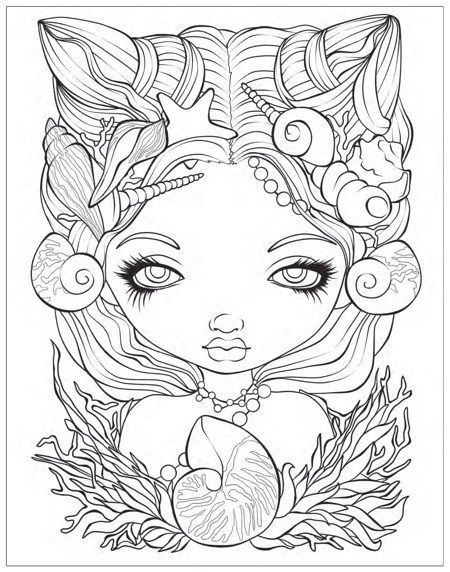 Mermaids Coloring Book An Aquatic Art Adventure Mermaid Coloring Book Mermaid Coloring Pages Fairy Coloring Pages