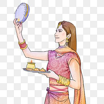 Karwa Chauth Kartika Indian Traditional Woman Festival India Woman Kartika Png Transparent Clipart Image And Psd File For Free Download Clipart Images Creative Illustration Festival