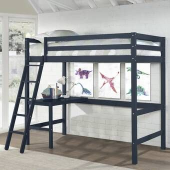 Alfred Twin Loft Bed With Desk In 2020 Twin Loft Bed Hillsdale Furniture Twin Platform Bed