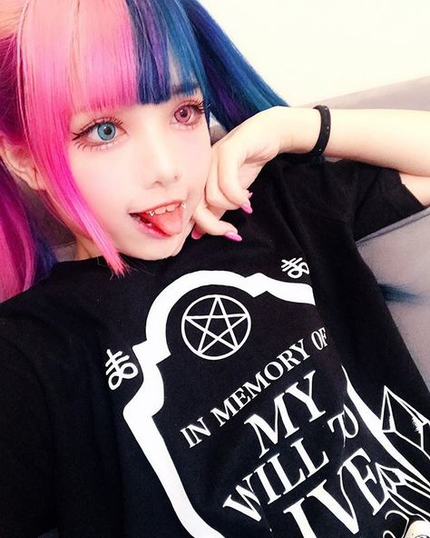 """★ YUYU ★ on Twitch! en Instagram: """"Check out @djharu.doll's and I's store @endxietyclothing if you wanna get this cute ass shirt (*´꒳`*) We just started out so please support…"""""""