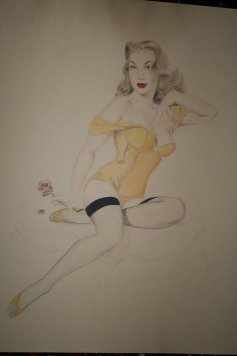 Disney Pinups - Belle by ~pixifly