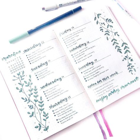 21 Bullet Journal Weekly Spreads Worth Copying - The Smallest Step