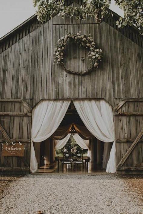 """16 Wedding Venues In Kentucky That Are A Southern Dream , Hello bridal barn dreams! Say """"I Do"""" in an old tobacco barn called, The Barn at Cedar Grove, located on 200 acres of meadows, woodland and streams. Country Barn Weddings, Rustic Wedding Venues, Wedding Locations, Farm Wedding, Dream Wedding, Wedding Dreams, Outdoor Weddings, Rustic Weddings, Perfect Wedding"""