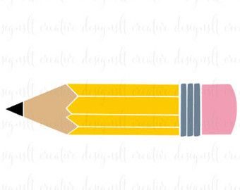 Pencil vector. Clipart svg teacher