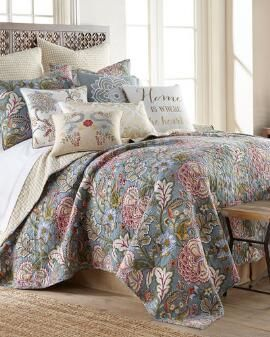 Angelina Floral Luxury Standard Sham With Images Quilt Sets
