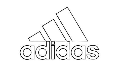 Hur Man Ritar Adidas Logo Youtube Logos Coloring Pages Graffiti Logo