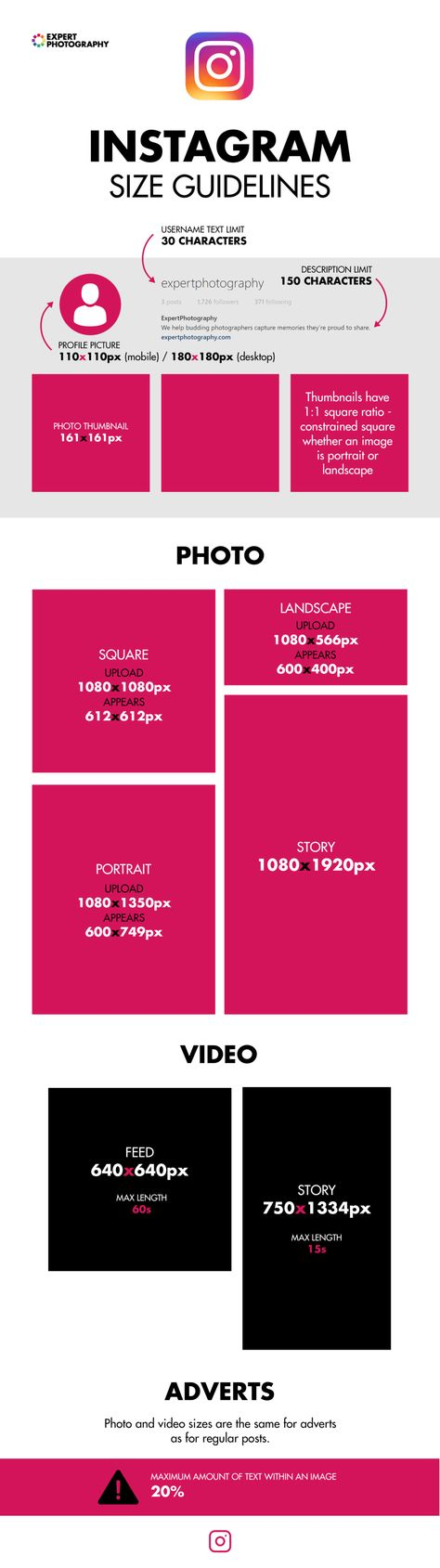 Instagram Profile Picture Size Guide 2021 Free Template Profile Picture Instagram Profile Quote Posters