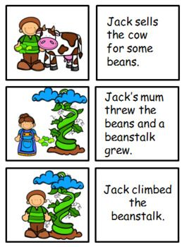 Jack And The Beanstalk Sequencing Cards Story Sequencing Sequencing Cards Jack And The Beanstalk