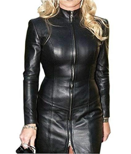 Handmade Women/'s Lamb Skin Leather Celebrity Coat Leather Outfit Women/'s Vintage Leather Dress Genuine Leather Jacket Leather Jacket