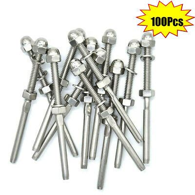 Sponsored Ebay 100pcs Set Swage Threaded Tensioner For 1 8 Cable Railing T316 Stainless In 2020 Cable Railing Stainless Steel Cable Railing Stainless Steel Railing