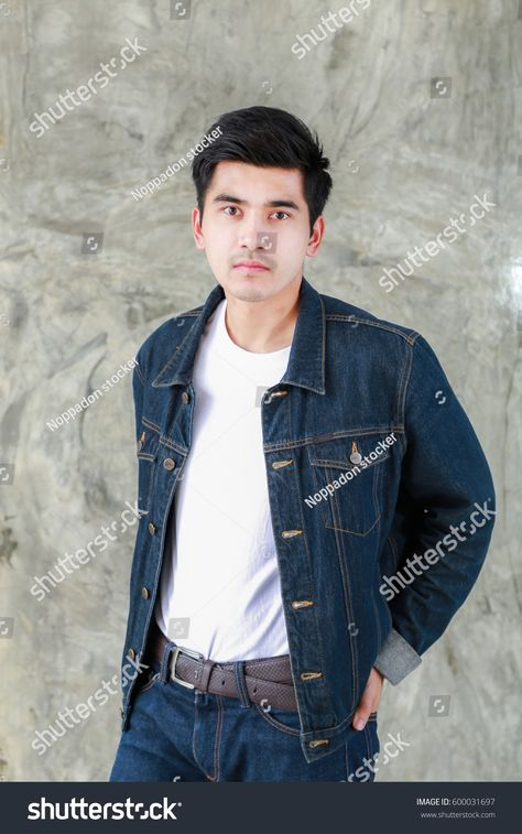 Black Shirt And Blue Jeans Outfit Mens