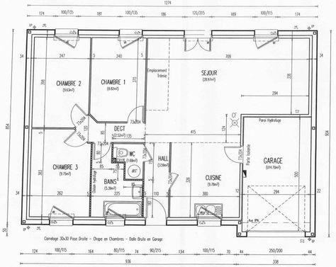 plan maison trecobat Maison de plain pied Pinterest